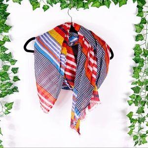 2 Chic   colorblock fall stripe scarf